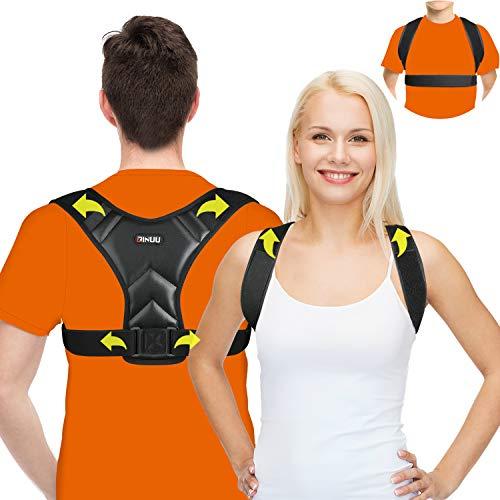 Geradehalter Haltungskorrektur,Upgraded 2 in 1Rückenkorrektur Damen Herren,atmungsaktiver, Schultergurt Rückentrainer, Haltungstrainer für Verbessert die Haltung Linderung Schmerzen Rücken