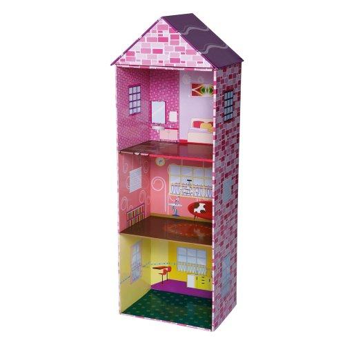 Knorrtoys.com 80152 - Puppenhaus aus Karton 3 stöckig schmal