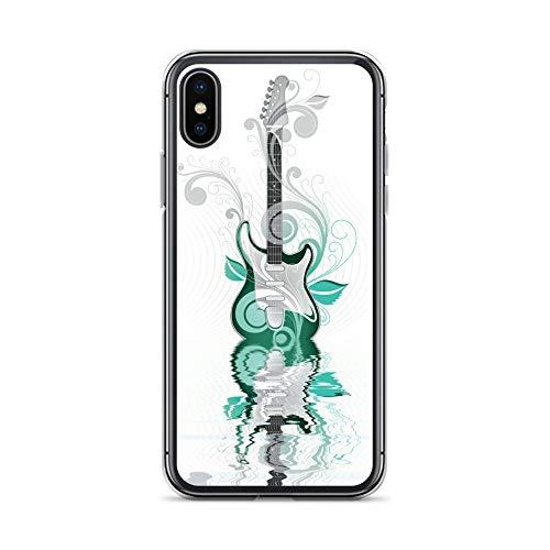 blitzversand Handyhülle Metal PINK kompatibel für LG G6 Gitarre grün Schutz Hülle Case Bumper transparent rund um Schutz Cartoon M6