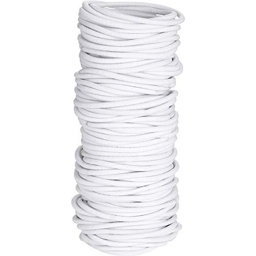 100 Count Girls Elastic Hair Ties Ponytail Holders No Metal Hair Elastics (White, 5 x 0.3 cm)