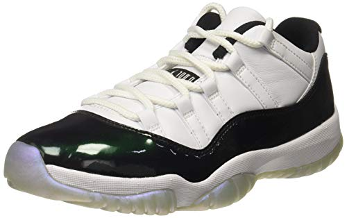 Jordan Air 11 Retro Low Men's Basketball Shoes White/Emerald Rise/Black 528895-145 (9.5 D(M)...