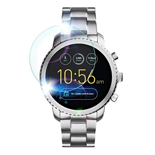 Shan-S Tempered Glass Screen Protector for Fossil Gen3 Q,[9H Hardness] [Anti-Fingerprint] [Bubble Free] Clear Film Tempered Glass Screen Protector for Fossil Gen3 Q Smart Watch Categories