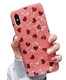 Dancila - Carcasa para iPhone 7 Plus, diseño de Hoja Dorada de protección de absorción de Golpes, Silicona antigolpes, para iPhone 6/7/8 Plus Be Loved Talla única