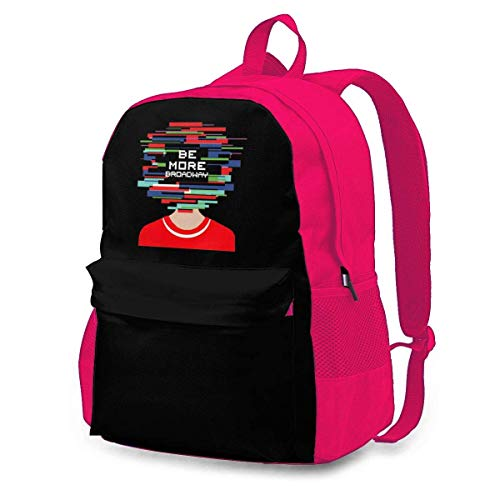 IUBBKI Be More chill be More Broadway Backpack Travel Bag College School Backpack Computer Bag Gifts for Women&Men