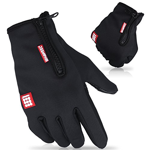 Cido Winter Gloves,Outdoor Sports Wind Stopper Cold Weather Touch Screen Gloves for Women Men (M-(3.34-3.54'))