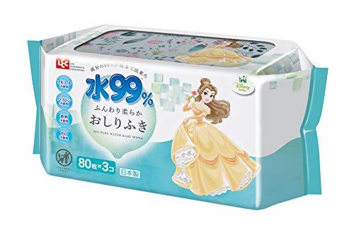 レックディズニー プリンセス ベル 水99%おしりふき 1パック 80枚×3個 レック