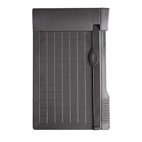 Cortador de papel pequeño, mini cortador de papel guillotina recortadora de papel...
