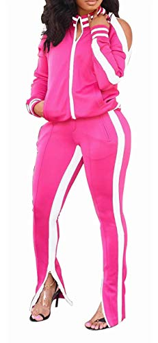 Nasty Gal Clothing for Women Outfit Sweatsuit Sets 2 Piece Rose White XL