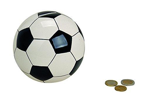 Topshop24you wunderschöne Spardose,Sparschwein,Sparbüchse Fußball,Vereinskasse, Mannschaftskasse aus Keramik