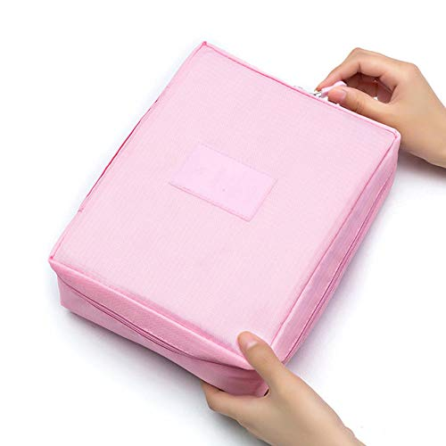 2020 CelleCOOL nouveau femmes maquillage sac Multi cosmétique beauté étui maquillage organisateur fermeture éclair trousse de toilette stockage vageage Kit sac-Rosa