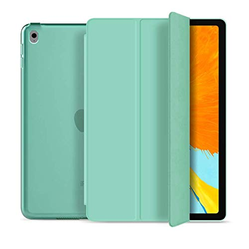 RKINC Case for Ipad 10.2 2019, PU Leather Trifold Stand Slim Fit Smart Cover [Auto Sleep/Wake] with Hard Back Case for Apple iPad 7 (10.2-Inch, 2019 Model, 7th Generation)(Mint Green)
