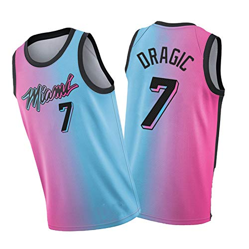 WWWJ Goran Dragic Basketball Jersey-Miami Héát Justicia Camisa de Entrenamiento Fitness Ropa Shapewear 2020-2021-M