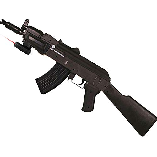 Ecommur Fusil Kalashnikov AK Spetsnaz láser   Arma de Airsoft (Bolas BB de PVC 6mm) Carga por Muelle