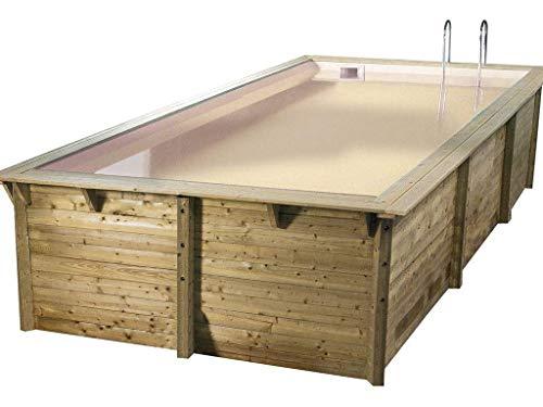 Ubbink - Piscine bois Sunwater 3,00 x 5,50 x 1,40 m - Liner beige