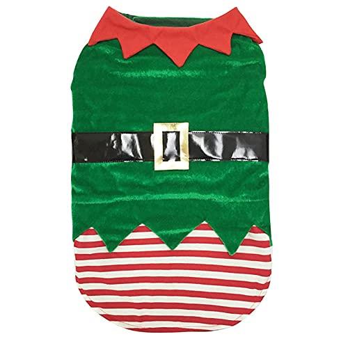 Disfraz de mascota navideña Ropa de Navidad para mascotas Disfraz de elfo para mascotas Disfraces Para Perros Graciosos Lindo abrigo para perro mascota Trajes De Fiesta De Mascotas Traje de cosplay XL