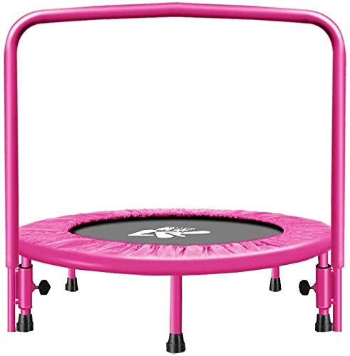 YAOJIA Indoor trampoline Elastic Trampoline For Children | Toy Trampoline With Handrails For Indoor Fitness (Color : Pink)