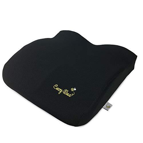 Cozy Bee Sitzkissen - Ergonomisches weiches Memory Schaum Kissen für den Bürostuhl, Auto, Rollstuhl. Ideal als Stuhlkissen bei der Arbeit, beim Gaming, auf dem Autositz und für die Schwangerschaft