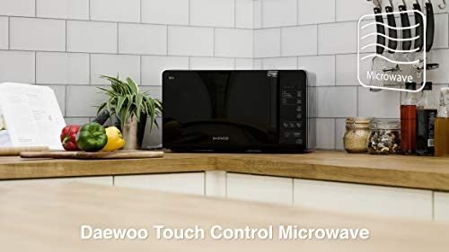 Daewoo KOR6M3RR Touch Control ECO Microwave, 800 W, 20 Litre, Black