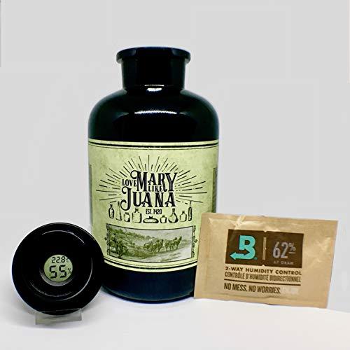 Glas zur Aufbewahrung von Cannabis/Weed - Mary Purple 2000ml