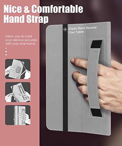 MoKo Hülle Kompatibel mit Vankyo MatrixPad S20 Tablet, Kunstleder Ständer Schutzhülle Tasche Cover mit Stift-Schleife Standfunktion - Rose Gold
