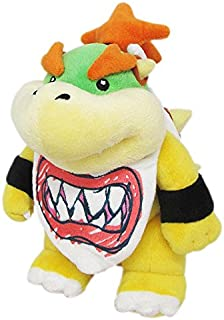 """Little Buddy Super Mario All Star Collection 1424 Bowser Jr. Stuffed Plush, 8"""",Multi-Colored"""