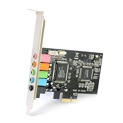 A/A enjoymentlin PCIe Tarjeta de Sonido 6 Canales CMI8738 Audio PCI-E 5.1 Stereo Desktop Soundcard Conectores
