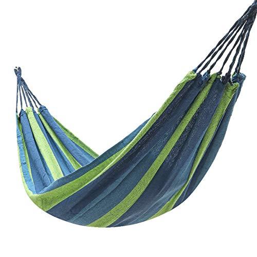 ZHANGNING Hammock with mosquito net Dedicated Hanging Hammock Garden Outdoor Camping Chair Swing Bed Hammock Camping aerial hammock (Color : Blue)