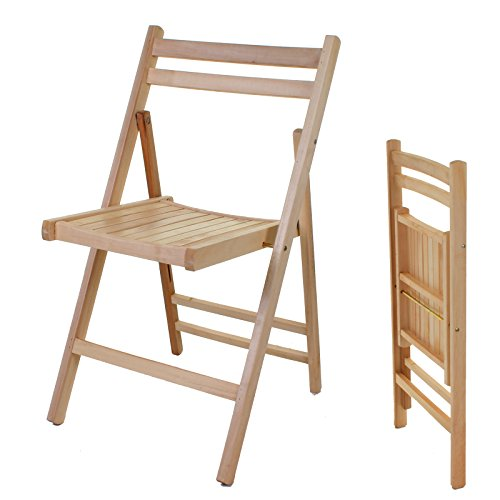 Marko Wooden Folding Chair Indoor Outdoor Slatted Natural Dining Patio Seating (1)