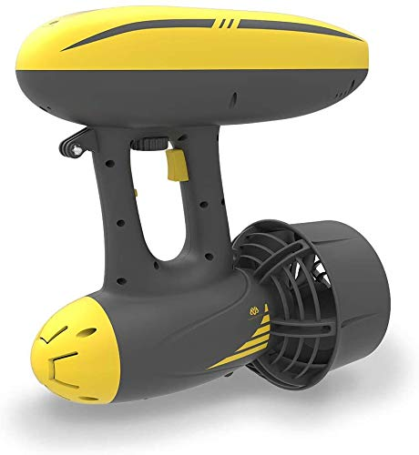 AQUAROBOTMAN MagicJet Seascooter 164ft 4mph Underwater Electric Scooter with 3 Camera Mounts for Scuba Diving Snorkeling Adventures Pool Gear