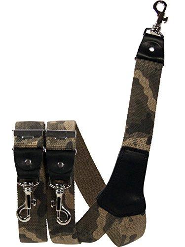 Harrys-Collection Herren extra starker Hosenträger mit Karabinerhaken, Größen:120 cm, Farben:Camouflage braun