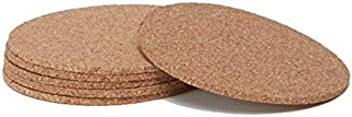 Cork Coaster Round - Set of 5pcs - Eco friendly, Biodegradable and Reusable Cork with 5mm thickness - Save the Planet