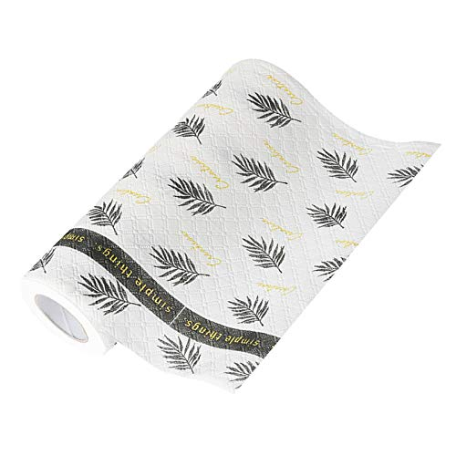 Nicoone Paños reutilizables para platos, paños para platos, paños de cocina, toallas de papel para limpiar platos y pequeños desechos, hojas