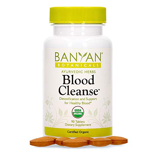 Banyan Botanicals Blood Cleanse Tablets – Organic Supplement with Manjistha & Turmeric – Blood Cleansing Herbs for Detox, Healthy Circulation & Skin* – 90 Tablets – Non GMO Sustainably Sourced Vegan