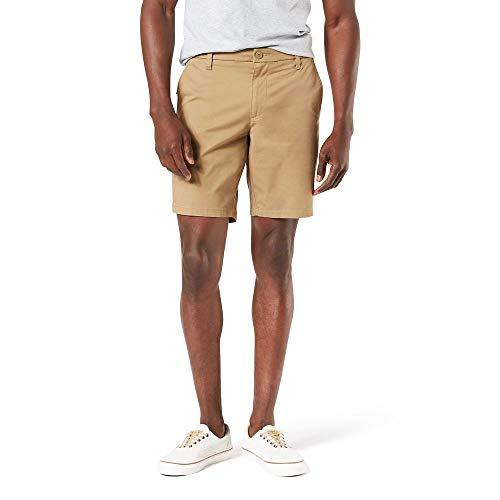 Dockers Men's Straight Fit Supreme Flex Ultimate Short, New British Khaki, 34W