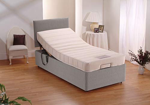 sleepkings Electric Adjustable Bed FREE Matching Headboard & 1500 Pocket Sprung Mattress Bed (3 Years Guarantee) (Steel, 4ft Small Double)