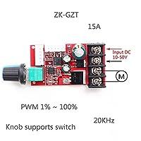 DC 10V-50V 15A DC PWMモータースピードコントローラーモジュールLED調光器ボードハイパワーLED調光器モジュールスピードスイッチ