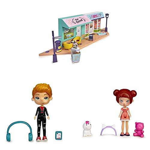 Mymy City- Funny Shopping, Set de Tiendas de Juguete con Accesorios + Peter Play, Figura con Accesorios + Kimmy Wai, Figura con Accesorios