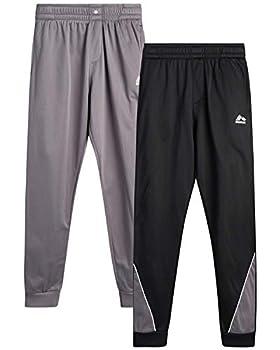 RBX Boy's Sweatpants – Active Tricot Jogger Playwear Pants 2 Pack  Size  4-7  Size 5/6 Black/Solid Grey