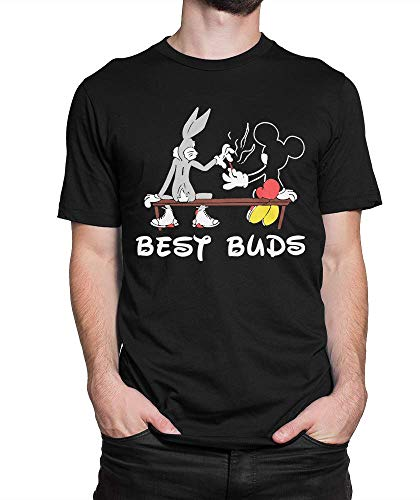 Bugs Bu.NNY & Mic.Key Mouse Best Buds T-Shirt, Mar.ijuana Weed Tee - T Shirt for Men and Woman.