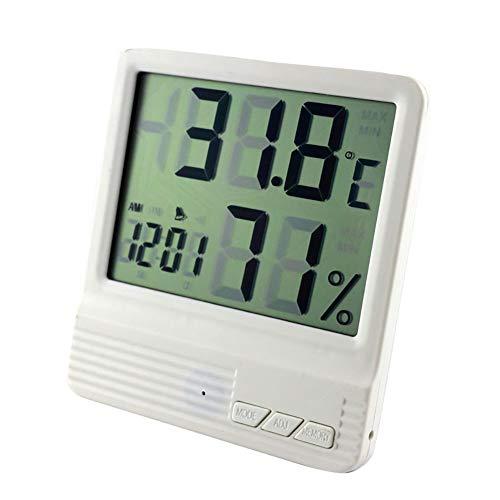 ZUEN Innenwetterstation Digital LCD Thermometer Hygrometer Wecker Elektronischer Temperatur-Feuchtigkeitsmesser Monitor