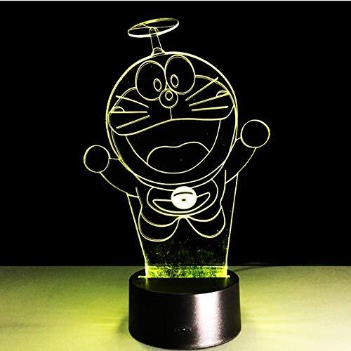 Cool Kids Lampada da notte a led Doraemon Lampada da notte anime giapponese per camera da letto per bambini Luminary Comodino con luce notturna Doraemon