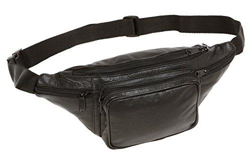Preisvergleich Produktbild LEAS Gürteltasche Echt-Leder,  schwarz Travel-Line
