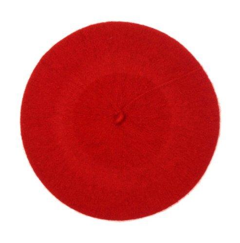 Central Chic damska wysokiej jakości czapka beretowa 100% wełna francuski beret zima jesień czapka damska | Czapki dziewczęce jeden rozmiar pasuje do wszystkich czarnych, czerwonych, kremowych, białych, szarych, różowych, fioletowych, zielonych