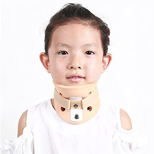 Ortesis cervical para niños / adultos, cuello de cuello de postura correcta para tortícolis, dispositivo de tracción de cuello, refuerzos de cuello y cabeza ajustables para aliviar el dolor de cuell