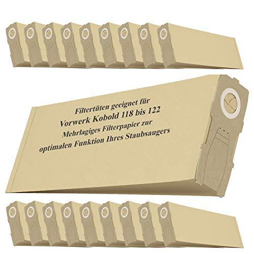 Staubsaugerbeutel 20x Beutel Ersatz für Vorwerk Kobold VK118 VK119 VK120 VK121 VK122 Staubsauger Handstaubsauger Filtertüte Ersatzteile Zubehör