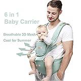 JooBebe 6 in 1 Babytrage Ergonomisch Bauchtrage Kindertrage Neugeboren mit