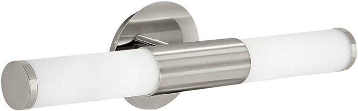 klassiek tijdloos IP44 badkamerlamp E14 wit nikkel mat glas staal