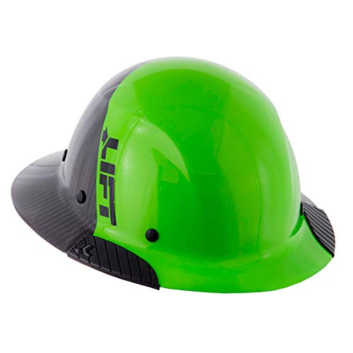 Lift Safety DAX Fifty 50 Green Carbon Fiber Full Brim Hard Hat