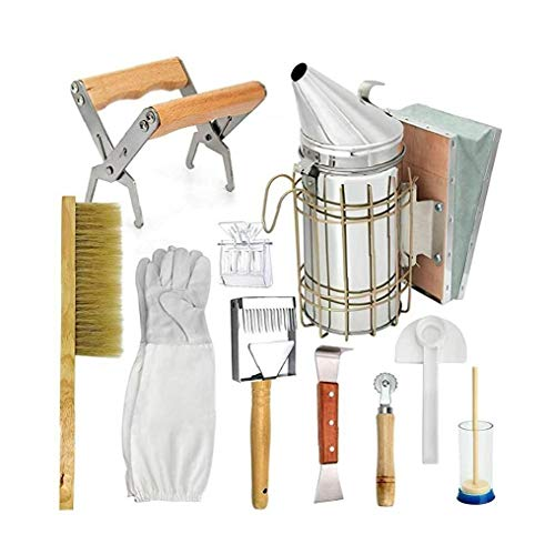 Nicetruc Herramientas de la Apicultura Apicultura Kit de Accesorios de Apicultura Equipo Conjunto para el Apicultor 10PCS