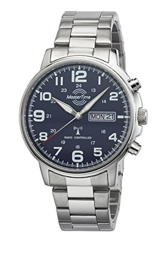 Master Time Funk Quarz Herren Uhr Analog mit Edelstahl Armband MTGA-10622-20M